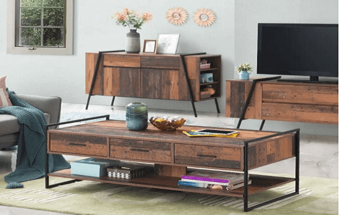 This coffee table with drawers